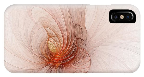 Nautilus In The Fractal Ether IPhone Case