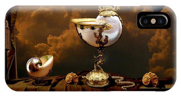 IPhone Case featuring the digital art Nautilus Cups by Alexa Szlavics