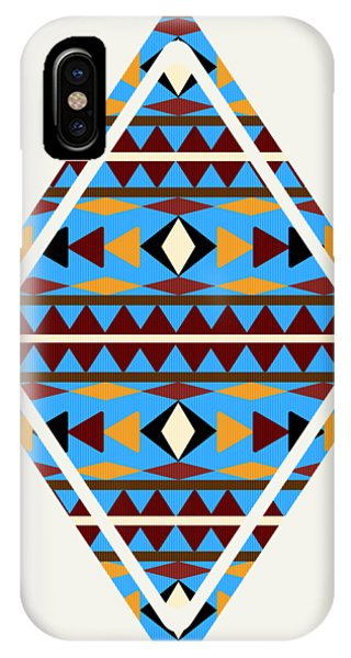 Native iPhone Case - Navajo Blue Pattern Art by Christina Rollo
