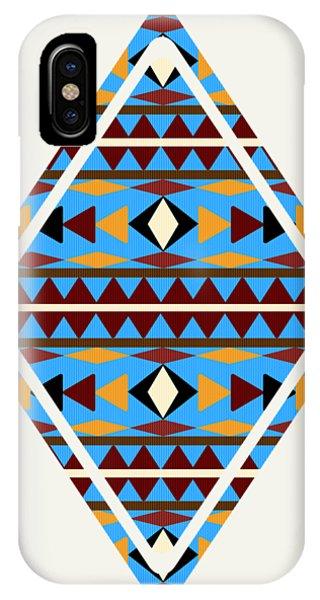 Navajo Blue Pattern Art IPhone Case