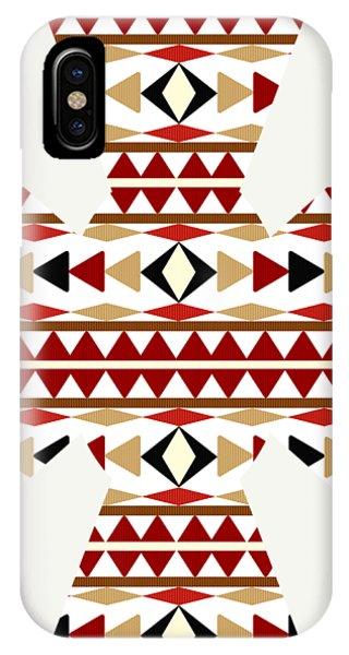 Navajo White Pattern Art IPhone Case