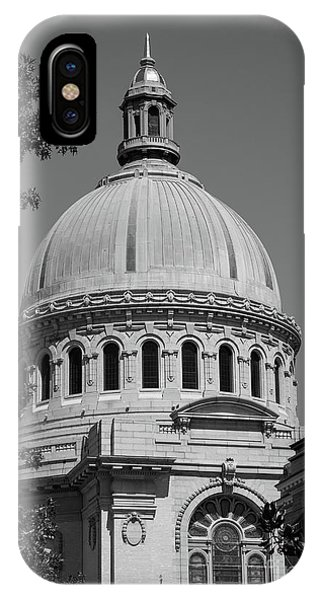 Naval Academy Chapel - Black And White IPhone Case