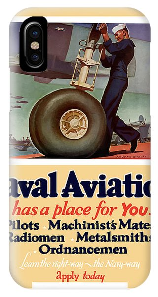 Americana iPhone Case - Naval Aviation Has A Place For You by War Is Hell Store