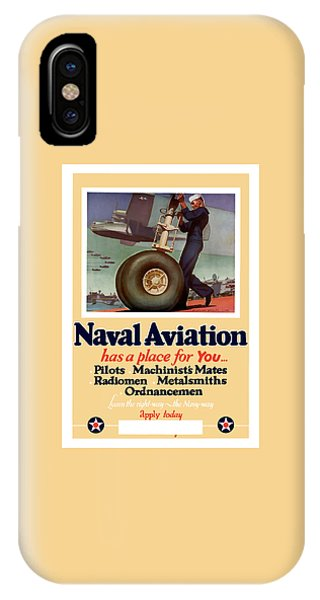 Political iPhone Case - Naval Aviation Has A Place For You by War Is Hell Store