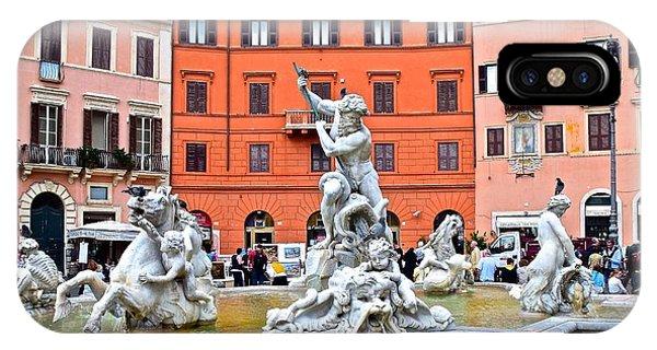 Navona Piazza Fountain IPhone Case
