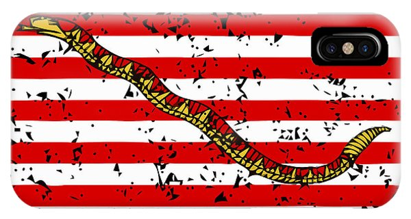 Or iPhone Case - Navy Jack Flag - Don't Tread On Me by War Is Hell Store