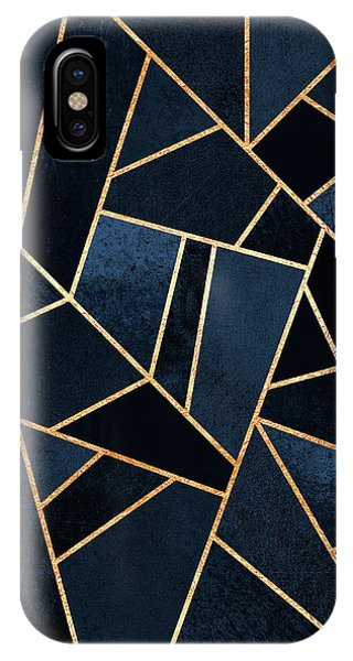 Geometric iPhone Case - Navy Stone by Elisabeth Fredriksson