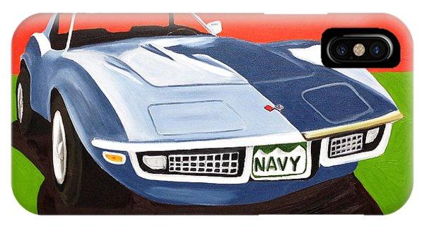 Navy Vette IPhone Case