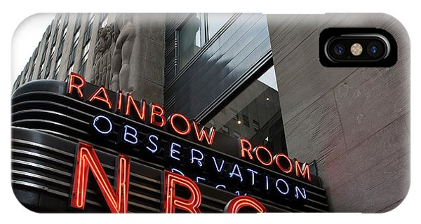 Nbc Studio Rainbow Room Sign IPhone Case