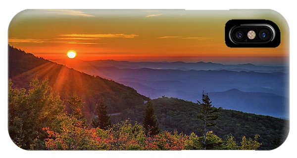 Nc Mountain Sunrise Blue Ridge Mountains IPhone Case