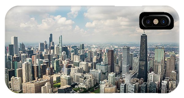 Chicago Skyline Art iPhone Case - Near North Side And Gold Coast by Adam Romanowicz