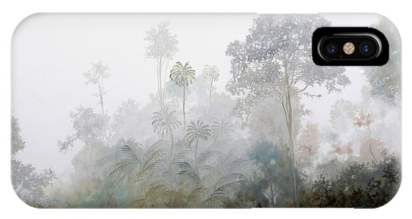 Fog Mist iPhone Case - Nebbia Nella Foresta by Guido Borelli