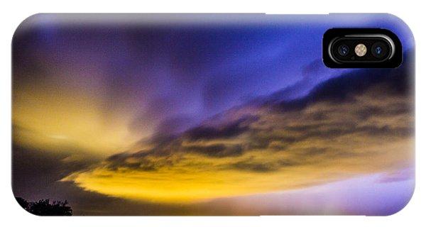 Nebraskasc iPhone Case - Nebraska Night Beast 021 by NebraskaSC