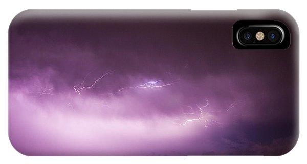 Nebraska Night Thunderstorms 013 IPhone Case