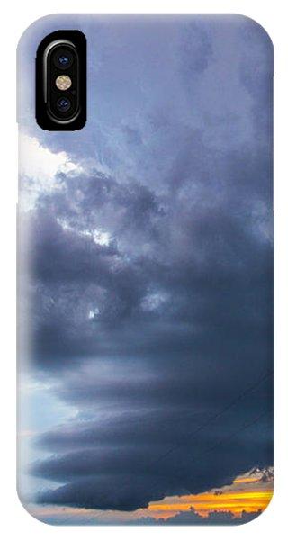 Nebraskasc iPhone Case - Nebraska Supercell 025 by NebraskaSC