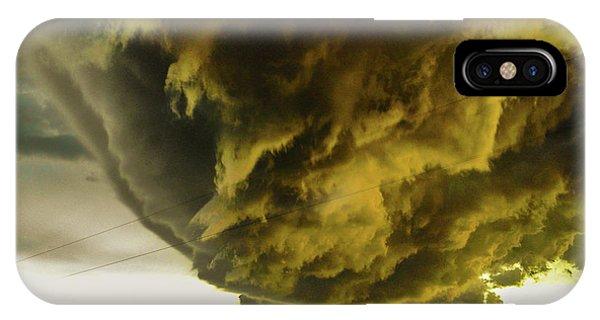 Nebraska Supercell, Arcus, Shelf Cloud, Remastered 018 IPhone Case
