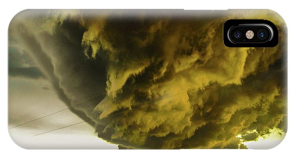 IPhone Case featuring the photograph Nebraska Supercell, Arcus, Shelf Cloud, Remastered 018 by NebraskaSC