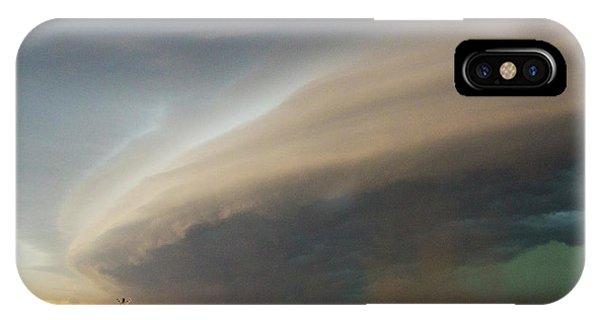 Nebraskasc iPhone Case - Nebraska Thunderstorm Eye Candy 026 by NebraskaSC