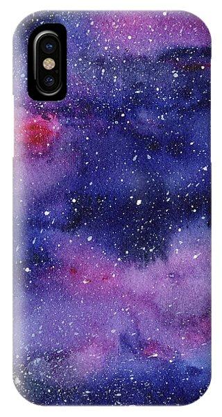 Nebula Watercolor Galaxy IPhone Case