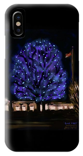 Needham's Blue Tree IPhone Case