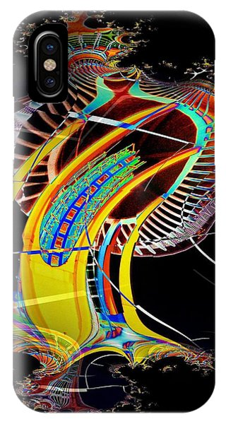 Needle In Fractal 4 IPhone Case