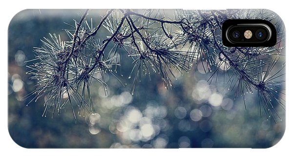IPhone Case featuring the photograph Needles N Droplets by Gene Garnace
