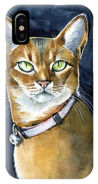 Nefertiti - Abyssinian Cat Portrait IPhone Case
