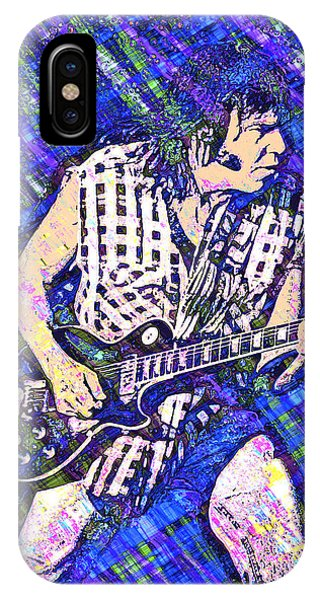 IPhone Case featuring the digital art Neil Young Barcelona 2007 by Joy McKenzie