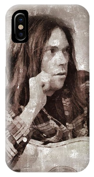 Neil Young By Mary Bassett IPhone Case