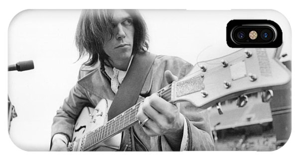 Strum iPhone Case - Neil Young by Kenneth Summers