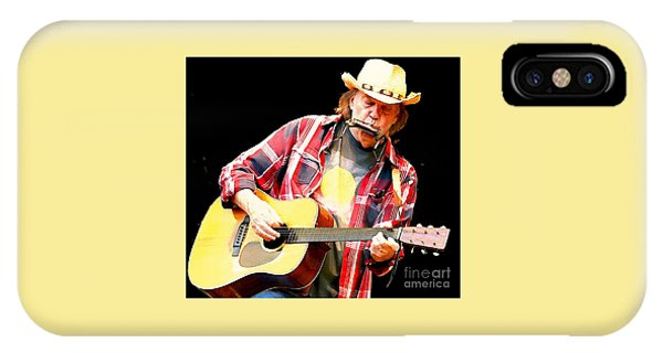 Harmonica iPhone Case - Neil Young Playing Blues Harp by John Malone 89ab68c99