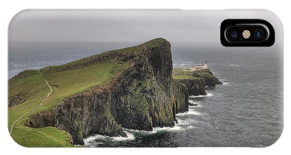 IPhone Case featuring the photograph Neist Point Lighthouse In Isle Of Skye, Scotland by Michalakis Ppalis