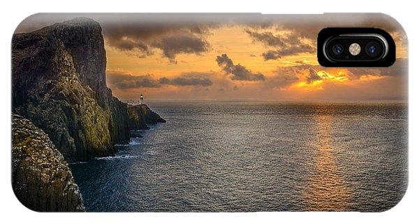 Neist Point Lighthouse Isle Of Skye IPhone Case