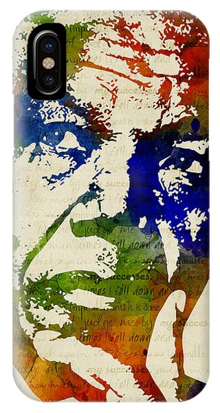 Nelson Mandela Watercolor IPhone Case