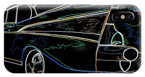 Neon 57 Chevy Bel Air IPhone Case