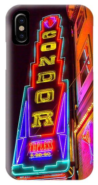 Condor iPhone Case - Neon Condor San Francisco by Garry Gay