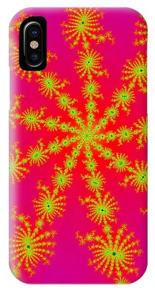 Neon Fractals IPhone Case