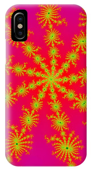 Neon Fractals IPhone Case