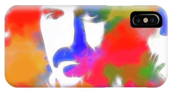 Frank Zappa iPhone Case - Neon Frank Zappa by Dan Sproul