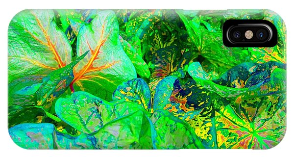 IPhone Case featuring the photograph Neon Garden Fantasy 1 by Marianne Dow
