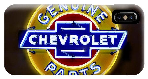 Neon Genuine Chevrolet Parts Sign IPhone Case