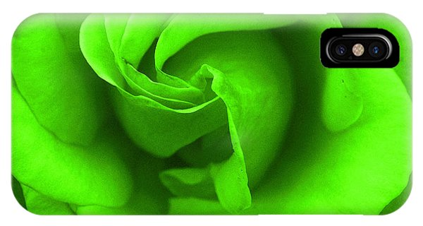 Neon Green Rose IPhone Case
