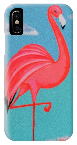 Neon Island Flamingo IPhone Case