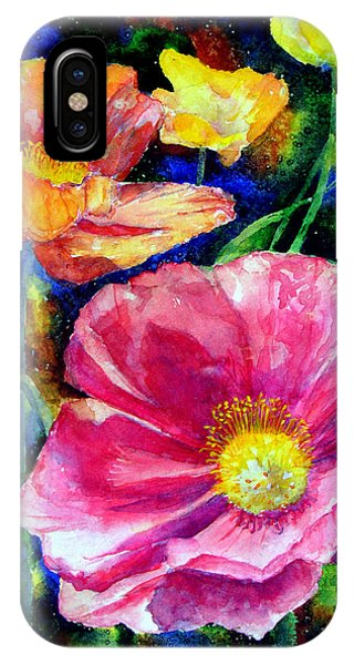 Neon Poppies IPhone Case