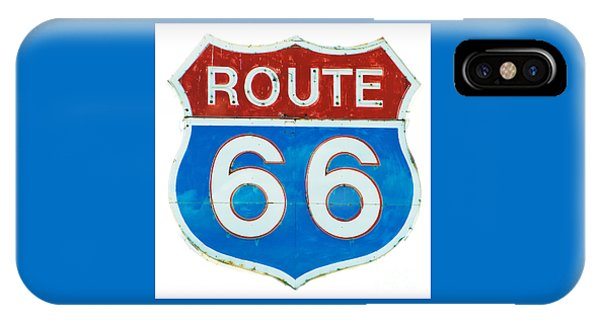 Neon Route 66 Sign IPhone Case