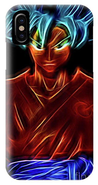 Saiyans iPhone Case - Neon Ss God Goku by Ray Shiu