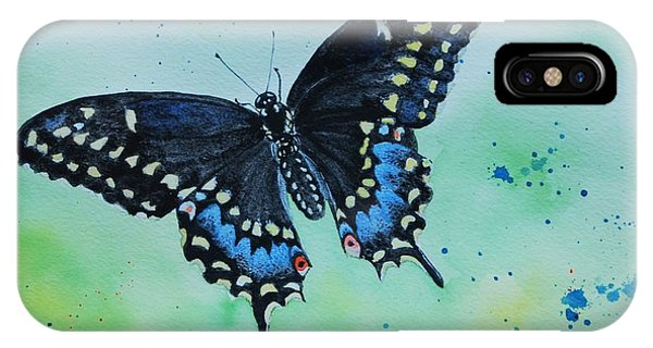 Neon Swallowtail IPhone Case