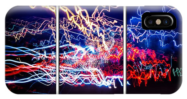 Neon Ufa Triptych Number 1 IPhone Case