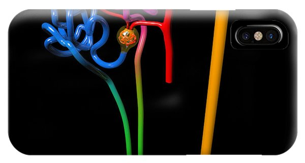 IPhone Case featuring the digital art Nephron Black by Russell Kightley