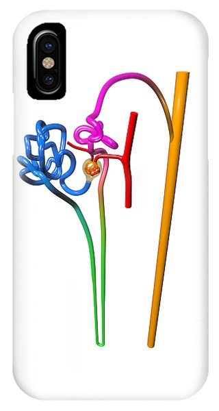 IPhone Case featuring the digital art Nephron White by Russell Kightley